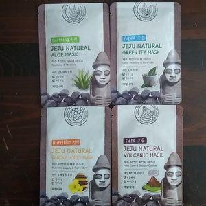 4-Pack Jeju Natural Sheet Masks by Welcos